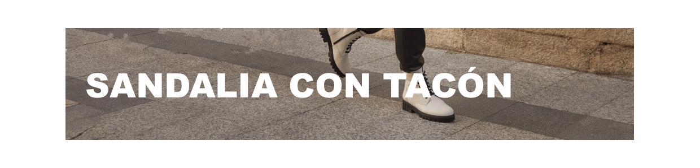 Sandalia con tacón