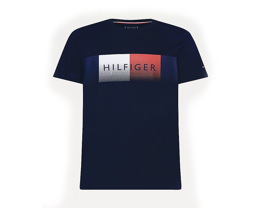 Camiseta con logo Tommy Hilfiger y corte regular Azul