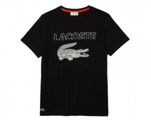 Camiseta de hombre Lacoste SPORT en algodón ecológico con cocodrilo oversized