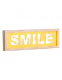 """MURAL PARED """"SMILE"""" CON LUZ LED 30 X 3,50 X 10 CM"""