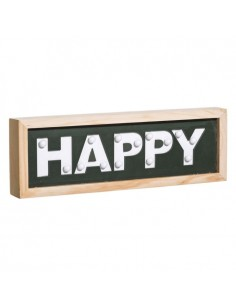 "MURAL PARED ""HAPPY"" CON LUZ LED 30 X 3,50 X 10 CM"