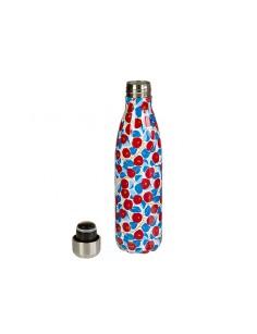 Botella termo de metal Flower-47982
