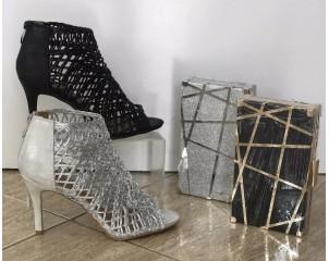 Sandalia botín cremallera