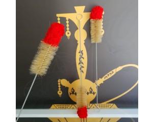 cepillo limpiador de cachimbas con punta Roja grande
